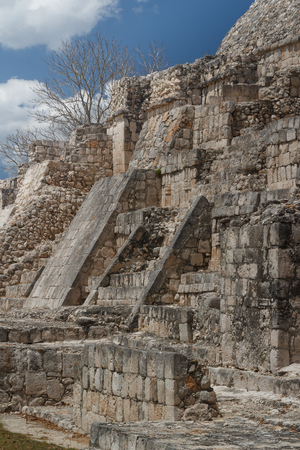 Edzna is a Maya archaeological site in the north of the Mexican state of Campeche. Stock Photo
