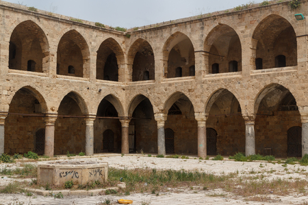 Abandoned choultry in the center of Akko, Israel