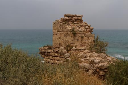 Ruins of the crusaders castle in Arsuf, Israel