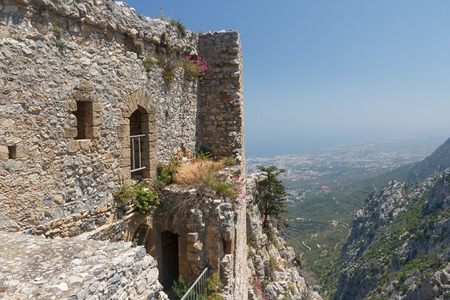 Ruins of the medieval St. Hilarion castle, North Cyprus