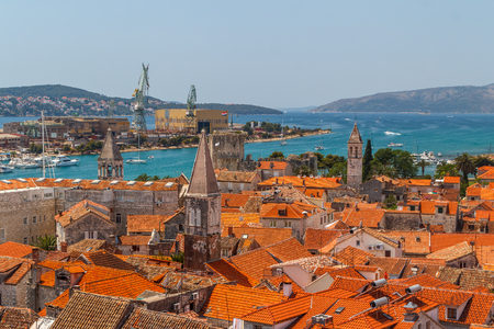 A view over old town of Trogir, Croatia Stock Photo