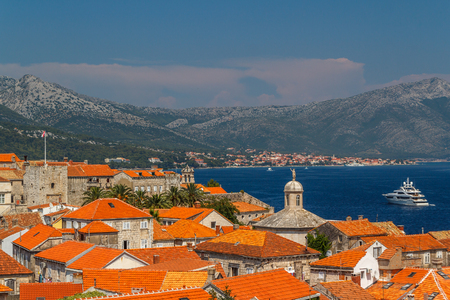 Korcula is a historic fortified town on the protected east coast of the island of Korcula in the Adriatic.