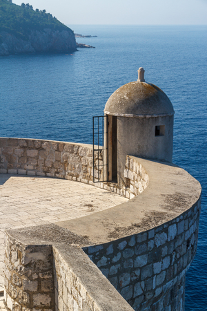 Defense tower of Dubrovnik fortress, Croatia