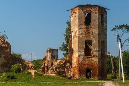 Ruins of Halshany castle, Belarus Stock Photo