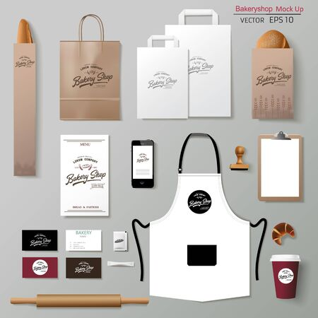 Vektorbäckerei Corporate Branding Identity Template Design-Set.