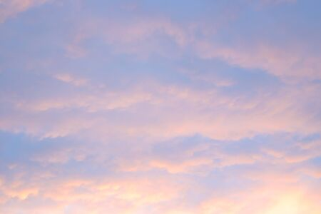 sunset sky and soft lilac clouds, background for text, background