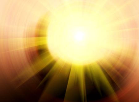 Shiny background with sun rays photo