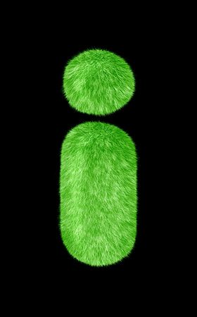 One character from high resolution grass alphabet collection Stock Photo