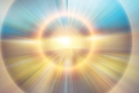Bright shiny background - sunbeams