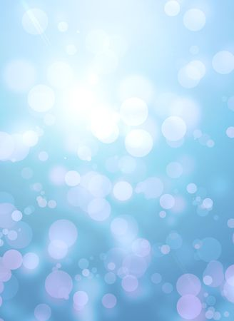 Bright blue tone background with sparkles photo