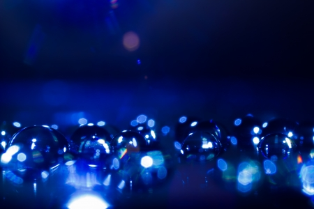 Abstract Shiny & Glittering Waterdrops Macro Background