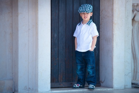 Little stylish boy Stock Photo