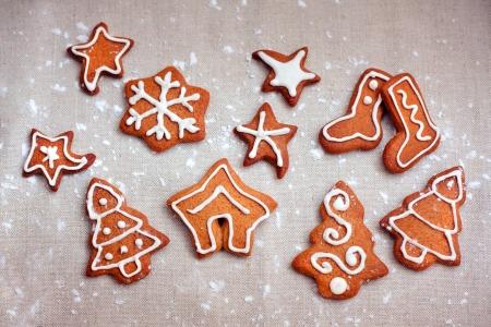 Homemade christmas cookies - gingerbread for Christmas Stock Photo - 16103324