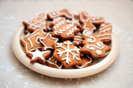 Homemade christmas cookies - gingerbread  All brightly colored cookies Stock Photo - 16103320