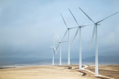 Wind turbines alternative energy source, Andalusia, Spain