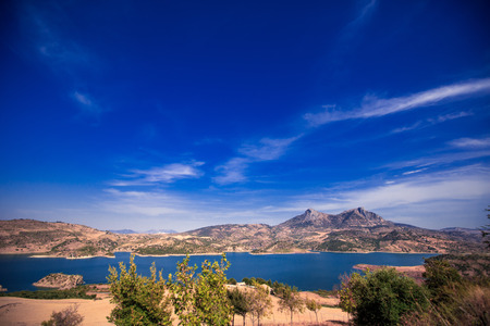 Views of Zahara Gastor Reservoir, Cadiz, Andalusia, Spain Stock Photo