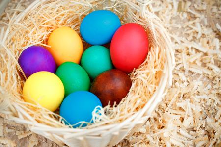 filings: Basket full of colorful eggs