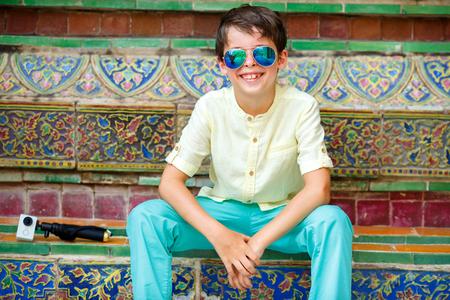 grand sons: Cute little boy in Grand Palace, Bangkok