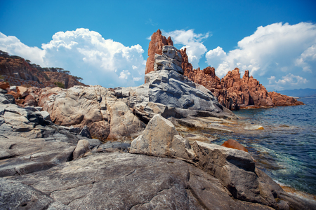 Red rocks and turquoise water of Arbatax, Sardinia