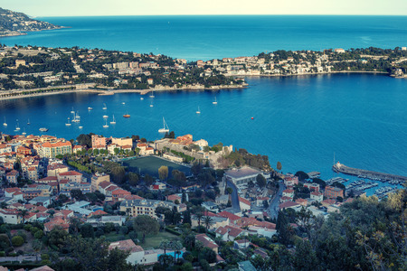 Cote dAzur France. Luxury resort and bay of French riviera Stock Photo