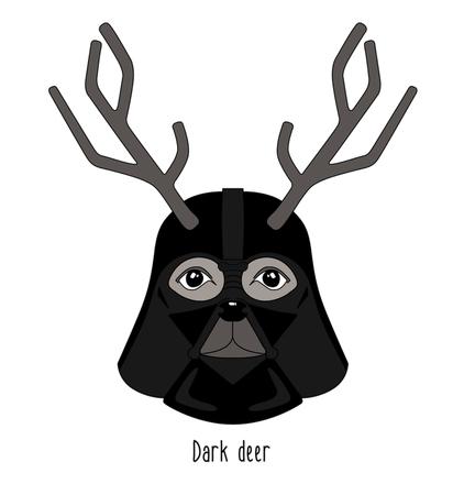 abstract illustration deer dark lord