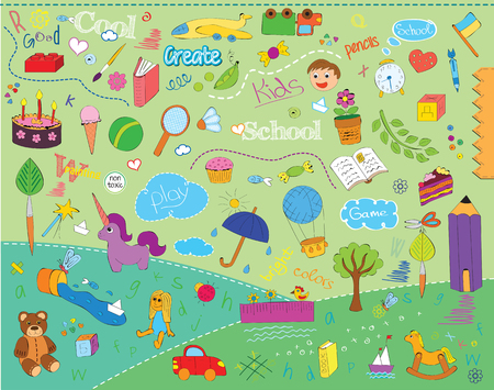 Beautiful childrens school pattern for kids