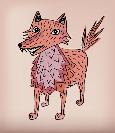 original single: Beautiful illustration abstract wolf