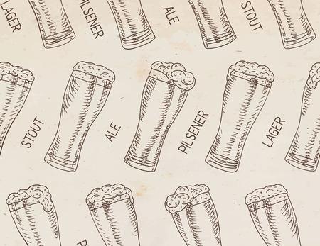 Beer seamless pattern.