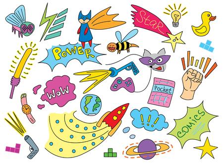 Comic children pattern Ilustrace