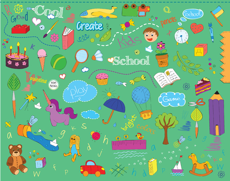 beautiful children school pattern for kinds Illustration