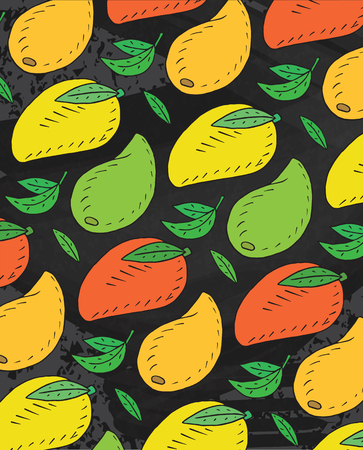 Seamless pattern of sweet juicy avocado. Summer exotic food. Beautiful hand drawn illustration of fruits and   vegetables Reklamní fotografie - 103041488