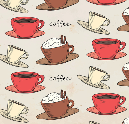 Beautiful illustration of the coffee pattern