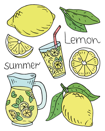 summer fresh lemonade pattern with juicy lemons Reklamní fotografie - 104267645