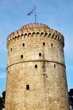 White tower of Thessaloniki Greece