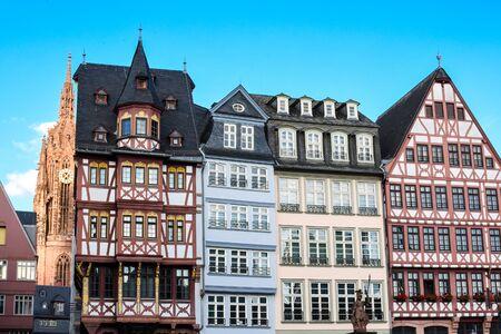 Frankfurt Deutschland, Historischer Römerberg Platz Standard-Bild
