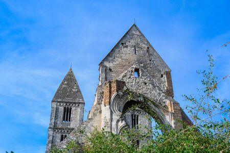 Zsambek Church Ruins, situated near Budapest, Hungary.