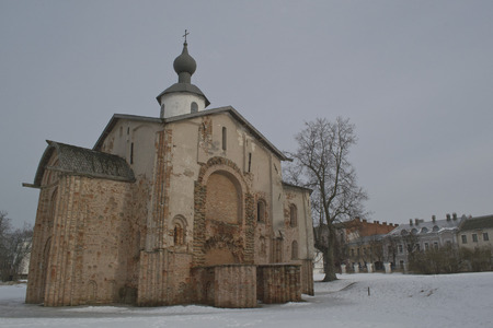 The Orthodox Church of the assumption on the Bargaining 12-15 age, Veliky Novgorod Russia photo