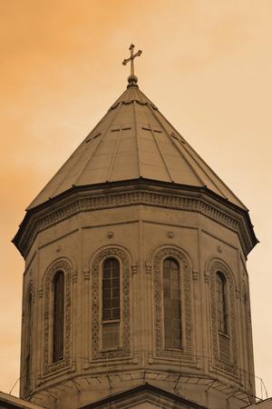 rustaveli: The tower of the Cathedral. Qashveti Shota Rustaveli Avenue Tbilisi Georgia