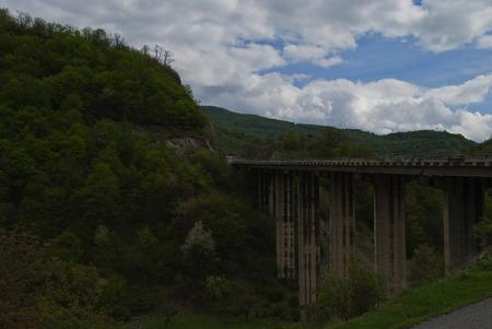 georgian: Georgian Military Road Bridge Stock Photo