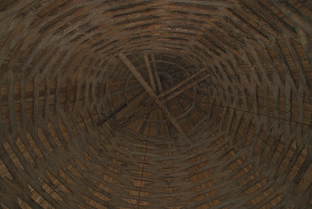 cane chair: Wicker roof brown texture background