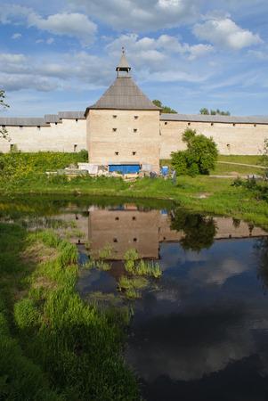 ladoga: Ancient fortress at Staraya Ladoga city Russia