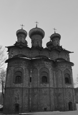 alteration: Spirit monastery Novgorod the Great Stock Photo