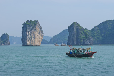 halong: Boat in Halong Bay