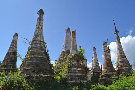 inle: Ruined pagoda, Inle lake, Myanmar, Burma