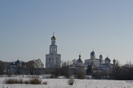 12th century: St. George monastery of the 12th century. Veliky Novgorod, Russia