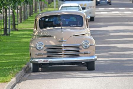 plymouth: Porvoo, Finland - July 25, 2015: Plymouth 1950 chevrolet, retro car