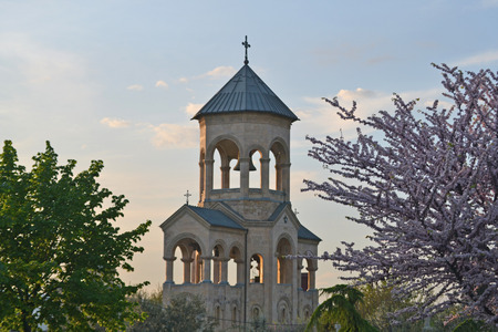 consecrated: Bell tower of Holy Trinity Cathedral of Tbilisi
