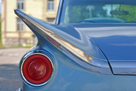 headlight: Headlight retro sports car Stock Photo