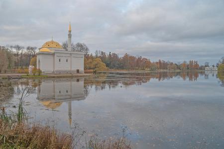 turkish bath: Turkish bath pavilion in Catherine park of Pushkin, Russia