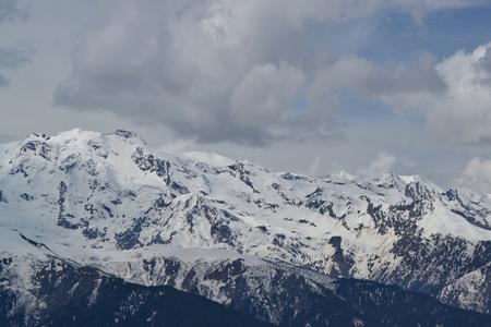 mestia: Snow-capped mountains. Mestia Georgia